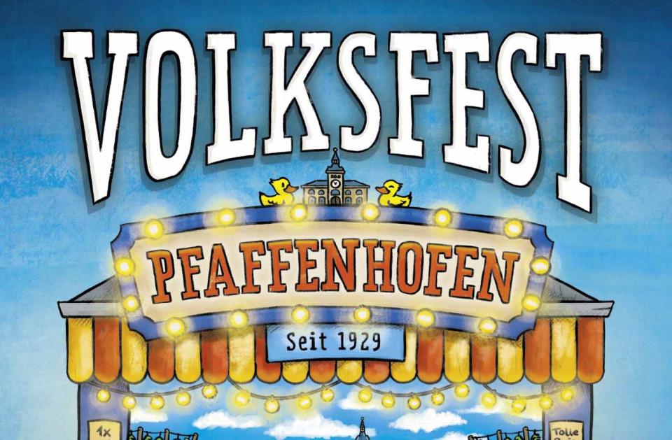 Volksfestplakat Pfaffenhofen 2019